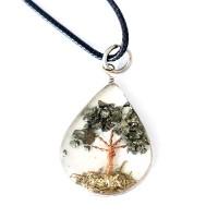 6e8f94b718d Colar da Energia Pedra Agata Azul Árvore da Vida Regulável ...
